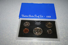 1969 US Coin Proof Set 40% Silver Kennedy Half BirthYear Free Shipping 001133333