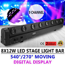 8X12W 4in1 Moving Head Stage Light Beam LED Bar DMX KTV Club 100W RGBW Strobe
