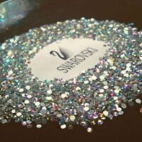 Swarovski crystals flat back clear or ab non hot fix for nails design and more*