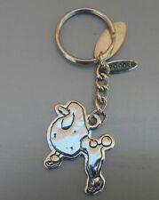 Silver tone poodle dog Keychain