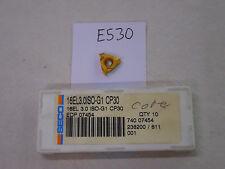 9 NEW SECO 16 EL 3.0ISO-G1 THREADING CARBIDE INSERTS. GRADE CP30.  {E530}