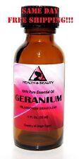 GERANIUM ESSENTIAL OIL AROMATHERAPY 100% PURE NATURAL GLASS BOTTLE 1.0 OZ 30 ML