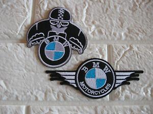 2x Aufnäher BMW Autosport Patch Motorcycles Motorradsport Racing Tuning Biker GT