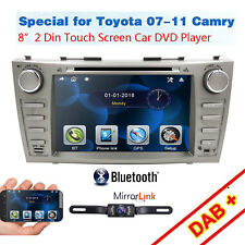 """Fits Toyota Camry 2007-2011 8"""" 2DIN In Dash Car Stereo DVD Player GPS BT Camera"""