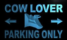 m248-b Cow Lover Parking Only Neon Light Sign