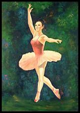 "* 36""x24"" Oil Painting on Canvas, Ballet Dancer, Hand Painted"