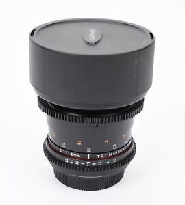 Samyang 14mm T3.1 VDSLR AS IF UMC II Cine Lens for Canon EF Mount