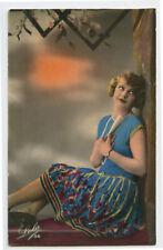 c 1930 Vintage FLAPPER BEAUTY Pretty Young Lady photo postcard
