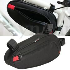 Triangle Travel Bicycle Bike Cycling Front Tube Storage Pouch Frame Bag Pannier