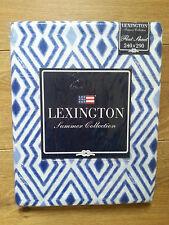 LEXINGTON COTTON SATEEN  FLAT SHEET, BLUE/WHITE 240 x 290