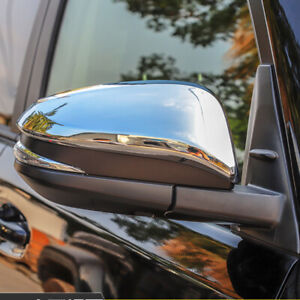ABS Exterior Chrome Rearview Side Mirror Cover 2pcs For Toyota 4Runner 2014-2021