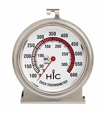 Oven Thermometer, Large 2.5-Inch Easy-Read Face, Stainless Steel