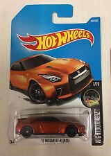 '17 Nissan GT-R (R35) #282 * Orange * 2017 Hot Wheels Case N * D30