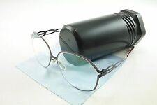 IC! Berlin Eyeglasses Frame Dimanche Stainless Aubergine Cherry 57-14-140 47