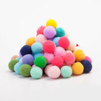 DIY Mixed Color Soft Fluffy Pom Poms Polyester Ball 10mm for kids Pompoms Craft