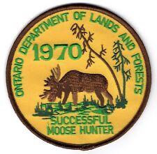 1970 Ontario Successful Moose Hunting Patch Michigan Bear Deer Turkey #1