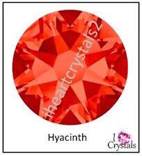 HYACINTH Orange 30ss 6.5mm 6 pcs Swarovski Flatback 2028 Crystal Rhinestones