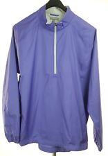 PETER MILLAR E4 Mens Purple 1/2 Zip Wind Light Jacket XXL Polyester *NEW*