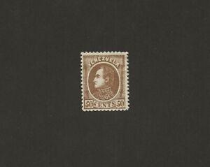 Venezuela 1880, 50 Cents: Simon Bolivar Portrait, Mint-hinged RARE
