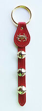 JINGLE BELLS - SLEIGH BELLS WITH CRAB CHARM - RED LEATHER STRAP