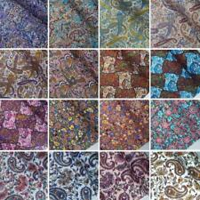 100% Cotton Poplin Fabric Paisley Pattern Floral Flower Teardrop Persia Tadpole