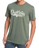QUIKSILVER MENS T SHIRT.NEW QUIK POOL GREEN SHORT SLEEVED COTTON TOP TEE 9S 93CQ