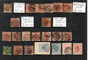 Denmark - Early Used x 22 - all unchecked