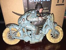 RARE ORIGINAL 1930s HUBLEY CAST IRON HARLEY-DAVIDSON MOTORCYCLE TOY HILL CLIMBER