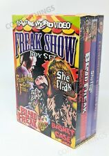 Freak Show Box Set (Frankenstein's Castle of Freaks / She Freak / Blood NEW DVD