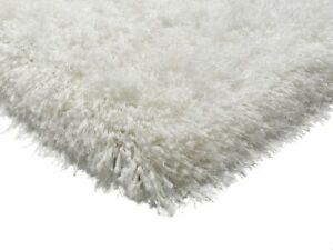 The Rug House Cascade Powder Thick Warm Easy Clean White Ivory Polyester...
