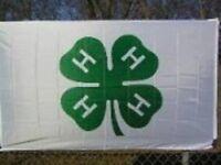 3x5 Embroidered Sewn 4-H 4 H Organization 300D Nylon Flag 3'x5' ft