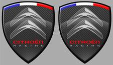2x ECUSSONS CITROEN AUTOCOLLANT STICKER RACING C3 C4 ZX SAXO DS3 CX GS 8cm CB104