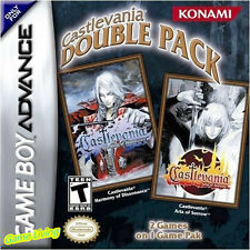 Castlevania Double Pack: Harmony of Dissonance & Aria Of Sorrow for GBA GBM NDS