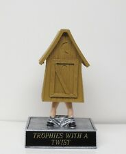 Fantasy Football League LOSER Trophy Award Resin Bobble Outhouse FREE ENGRAVING