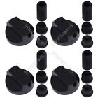 4 X Hotpoint Universal Cooker/Oven/Grill Control Knob And Adaptors Black photo