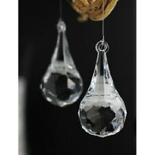 Acrylic Hanging Raindrop Crystal, 2-1/2-Inch, 6-Pack