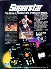 1985 Larry Bird Boston Celtics NBA Basketball Superstar Canon Camera Promo AD