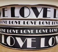 Love printed bold script gift cake decorating wedding valentines day ribbon