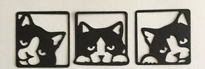 Cat silhouette Die Cuts - Cats,Animals , feline cards 3 sets