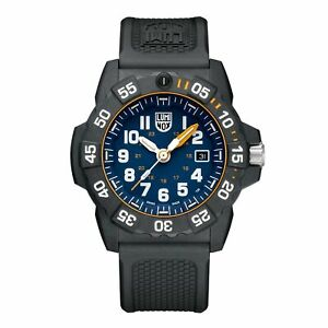 Luminox Navy SEAL 3500 Series Quartz Blue Dial Black Strap Men Watch XS.3503.NSF