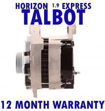 TALBOT HORIZON 1.9 DIESEL EXPRESS 1000 - 1800 1.9 D ALTERNATOR 1982 - 1990