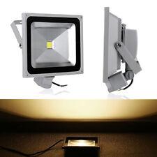 50W LED Fluter Flutlicht Strahler Scheinwerfer Grau Bewegungsmelder Warmweiß