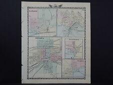 Illinois Map 1876, Galena, La Salle, Ottawa, Jonesboro and Sparta L15#65