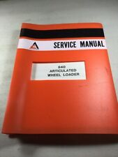 Allis Chalmers 840 Wheel Loader Service Manual (Original)