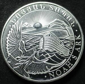 2012 ARMENIA NOAH'S ARK 1 OUNCE .999 FINE SILVER FIVE HUNDRED DRAM COIN