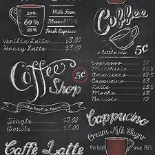 COFFEE SHOP BLACKBOARD WALLPAPER - RASCH 234602 RETRO VINTAGE