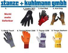 Arbeitshandschuhe: Winter ,Black Touch ,Kori Grip + Red ,Texxor  Gr. 8,9,10+11
