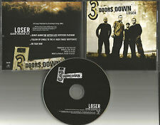 3 DOORS DOWN Loser ULTRA RARE USA PROMO Radio DJ CD Single three  UNIR 20215