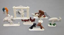 Margarine Figuren Siku / Fri-Homa Tiere, Affe, Hund, Vogel, Katze, Cowboy