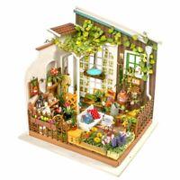 Robotime Rolife DIY Miniature DollHouse Kit LED Miller's Garden flower Model